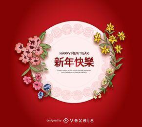 Plato de arte chino