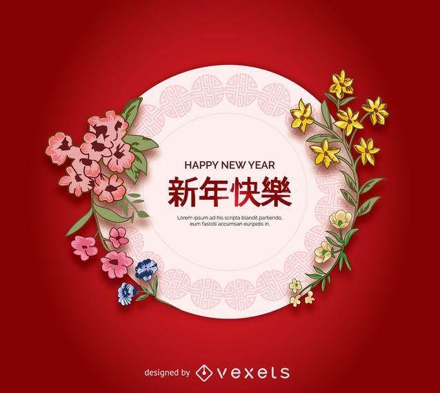 Placa de arte chino