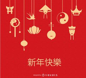 Elementos colgantes chinos