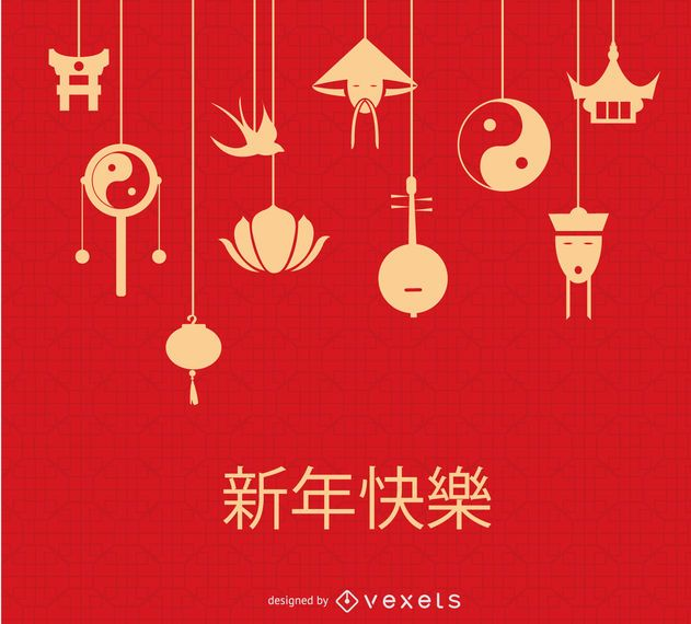 Chinese hanging elements