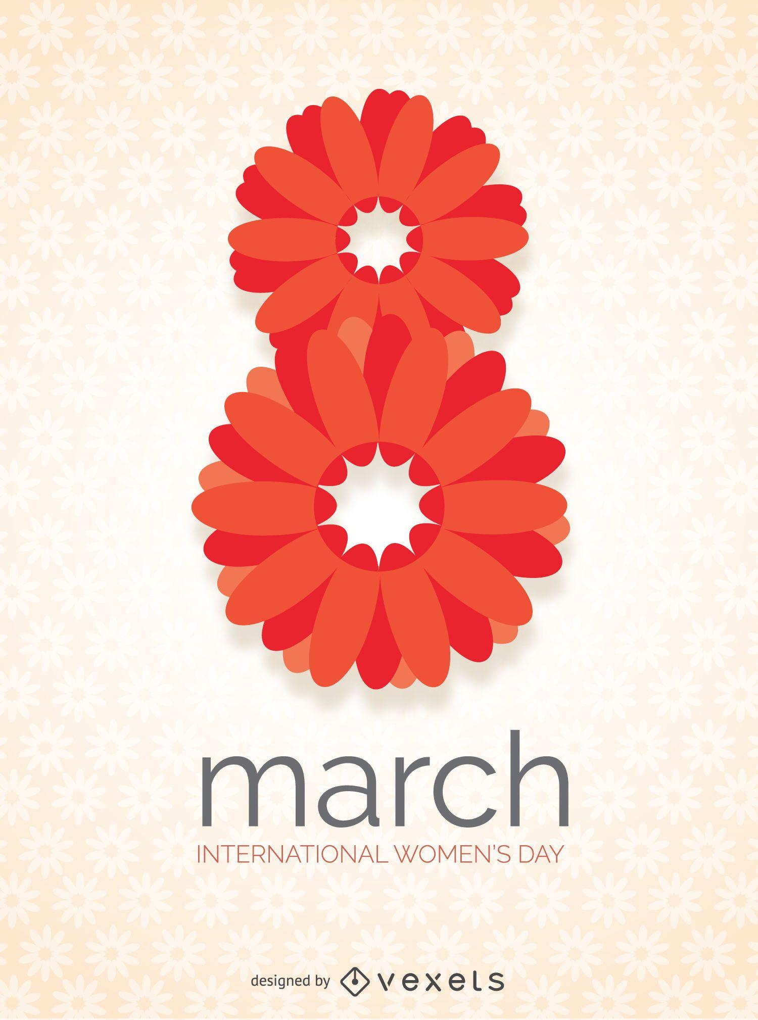 dia internacional da mulher no design floral