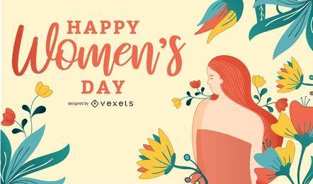 Cartão do dia das mulheres abstratas