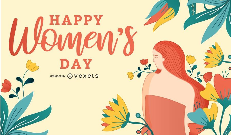Abstract Women's Day Card