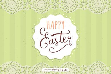 Lace Decoration Easter Card