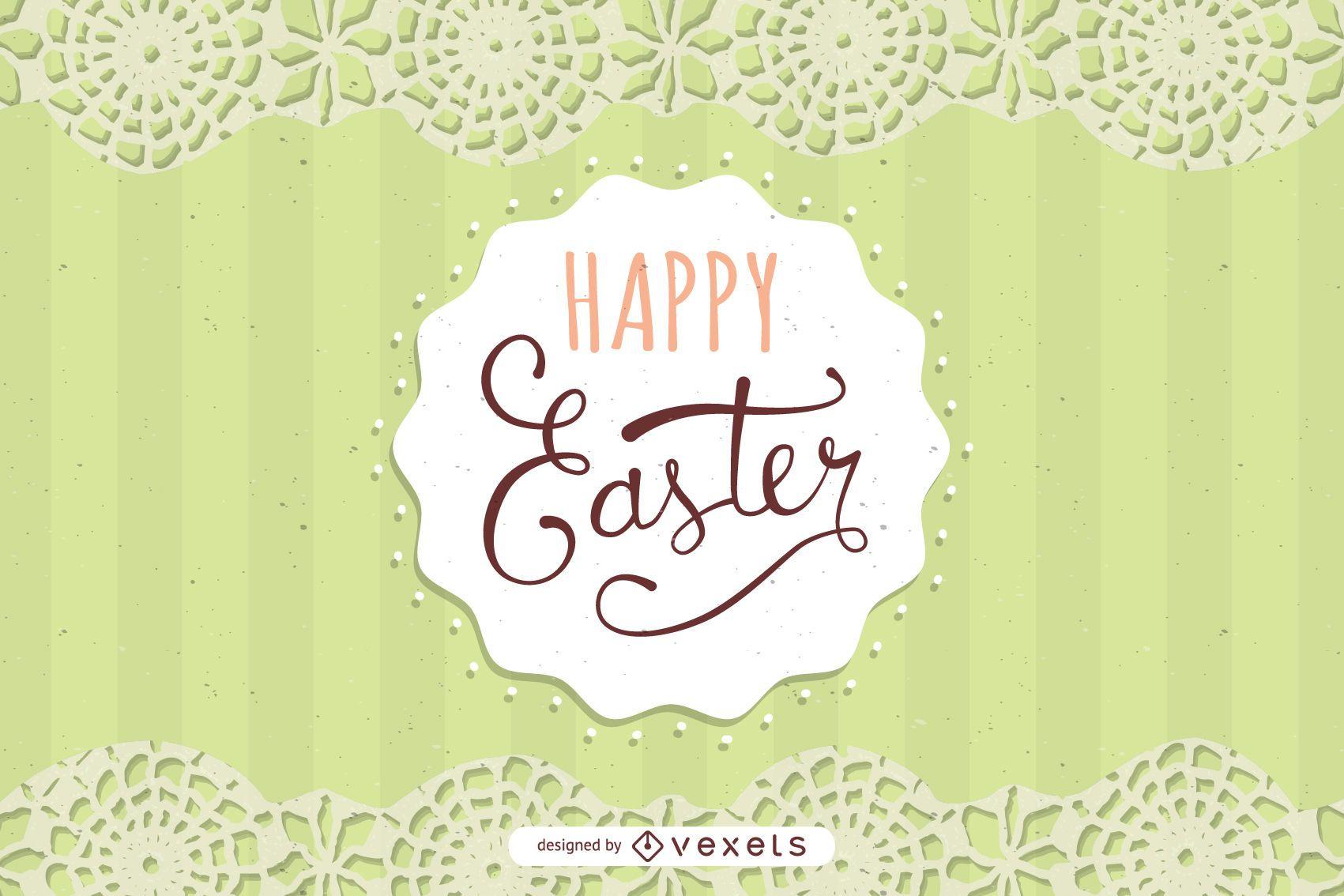 Tarjeta de Pascua con decoración de encaje
