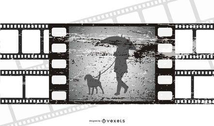Escena de película Tira de película rota
