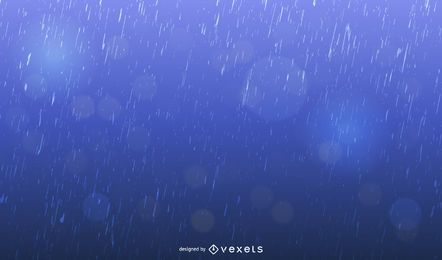 Realistic Blue Raindrops Background Design
