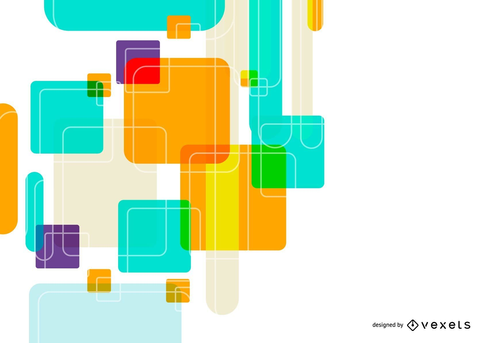 Colorful Rectangles Abstract Background