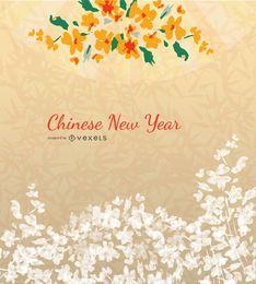 Chinesischer Hintergrund des neuen Jahres