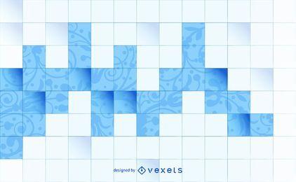 Fondo de azulejos cuadrados de estampado floral
