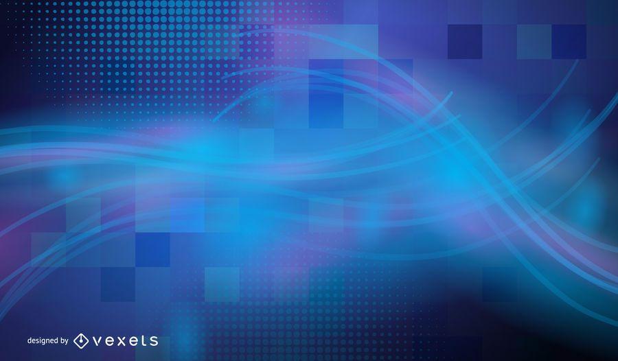 Pixel Squares meio-tom moderno fundo