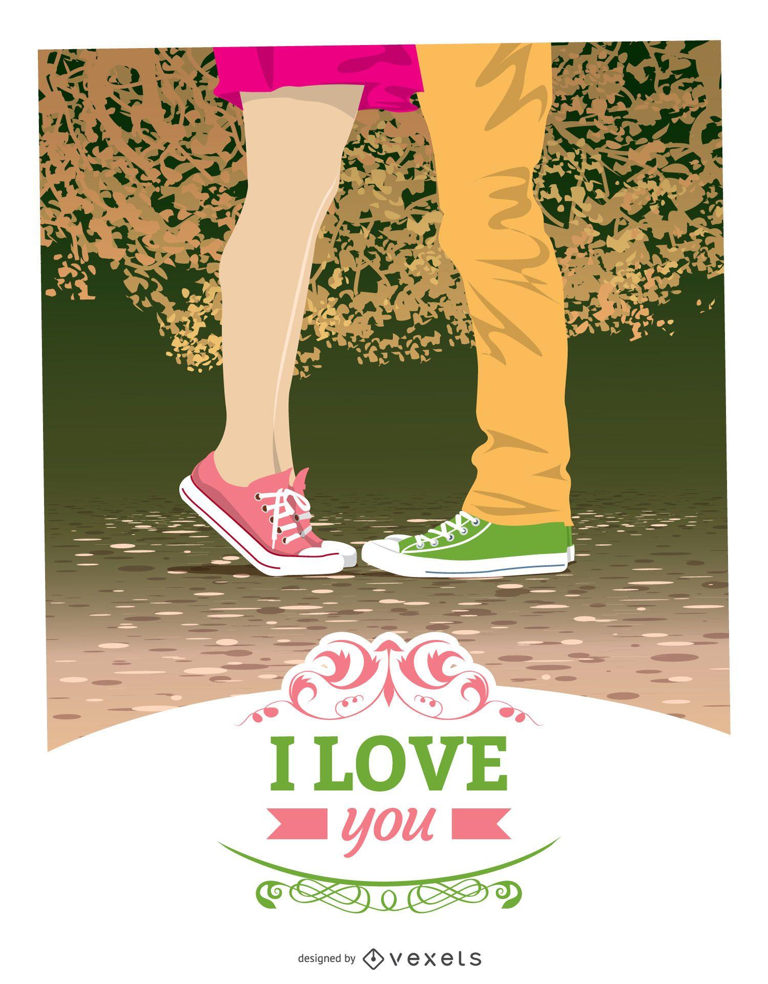 Cartão moderno do dia dos namorados