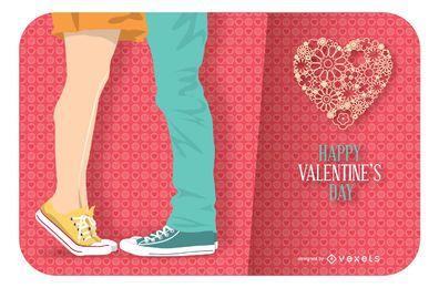 Glückliche Valentinstagskarte
