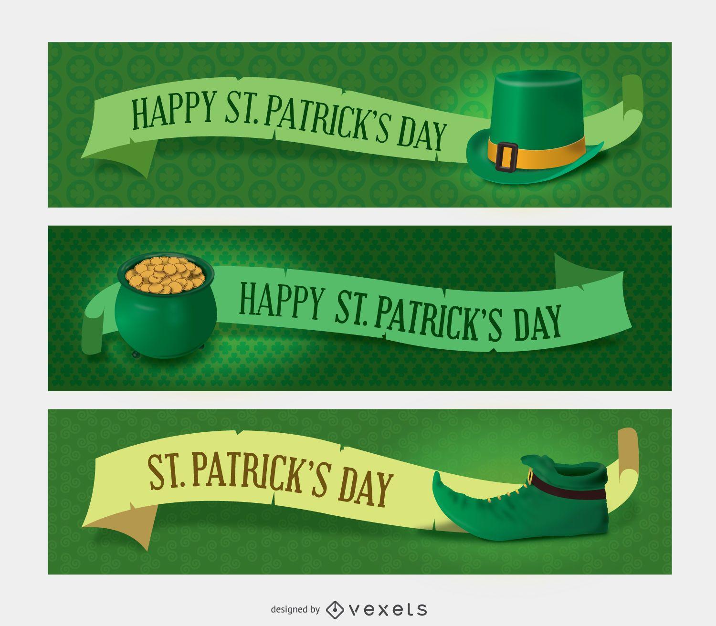 3 St Patricks Banners