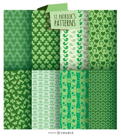St. Patrick's 8 Background Set