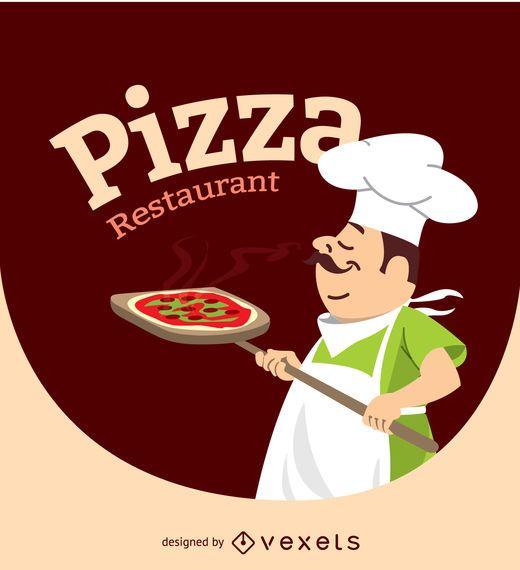 Design de personagens Pizza Cheff