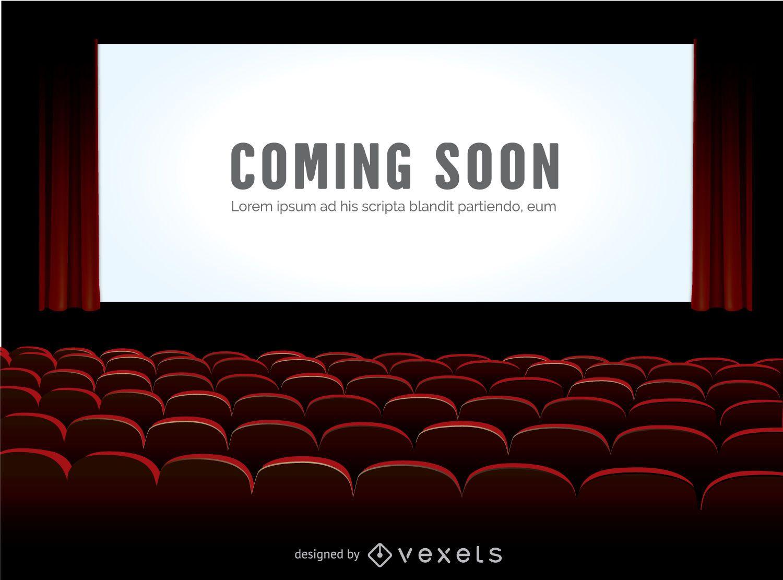 Maqueta de pantalla de cine