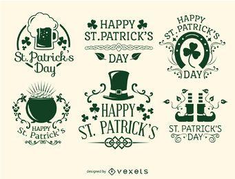 Fröhliche St. Patrick's Day-Embleme