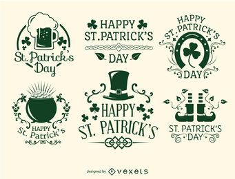 Happy St. Patrick's Day emblems