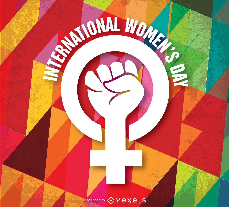 Fondo y símbolo del día de la mujer
