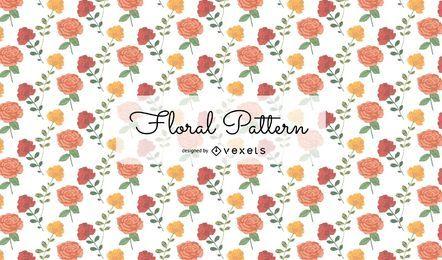 Patrón floral acuarela transparente