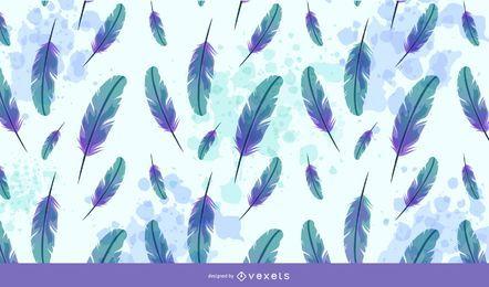 Fondo de plumas de acuarela creativa