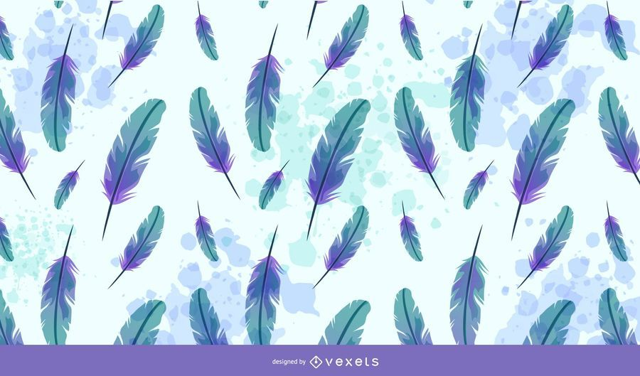 Creative Watercolor Feathers Background