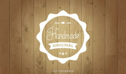 Retro Label on Wooden Background
