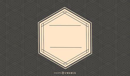 Etiqueta retro en textura hexagonal