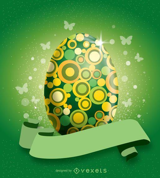 Huevo de Pascua decorado verde