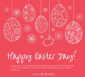 Easter simple greeting card
