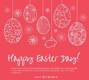 Pascua simple tarjeta de felicitación