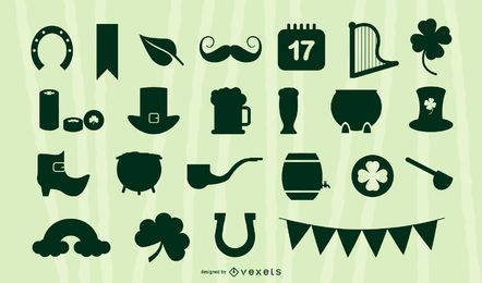 St. Patrick's Silhouette Elements Collection