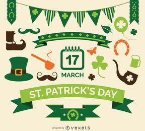 Conjunto de elementos del St. Patrick