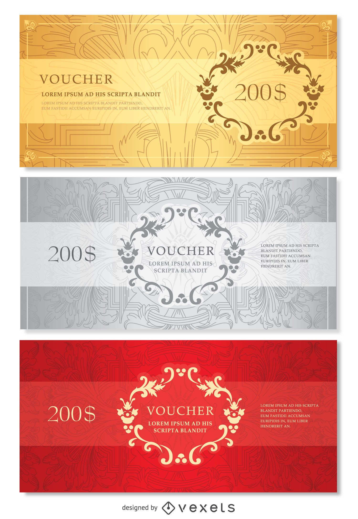 Voucher template Vector download – Voucher Template