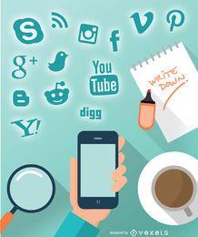 Design social de smartphone