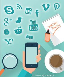 Smartphone soziales Design