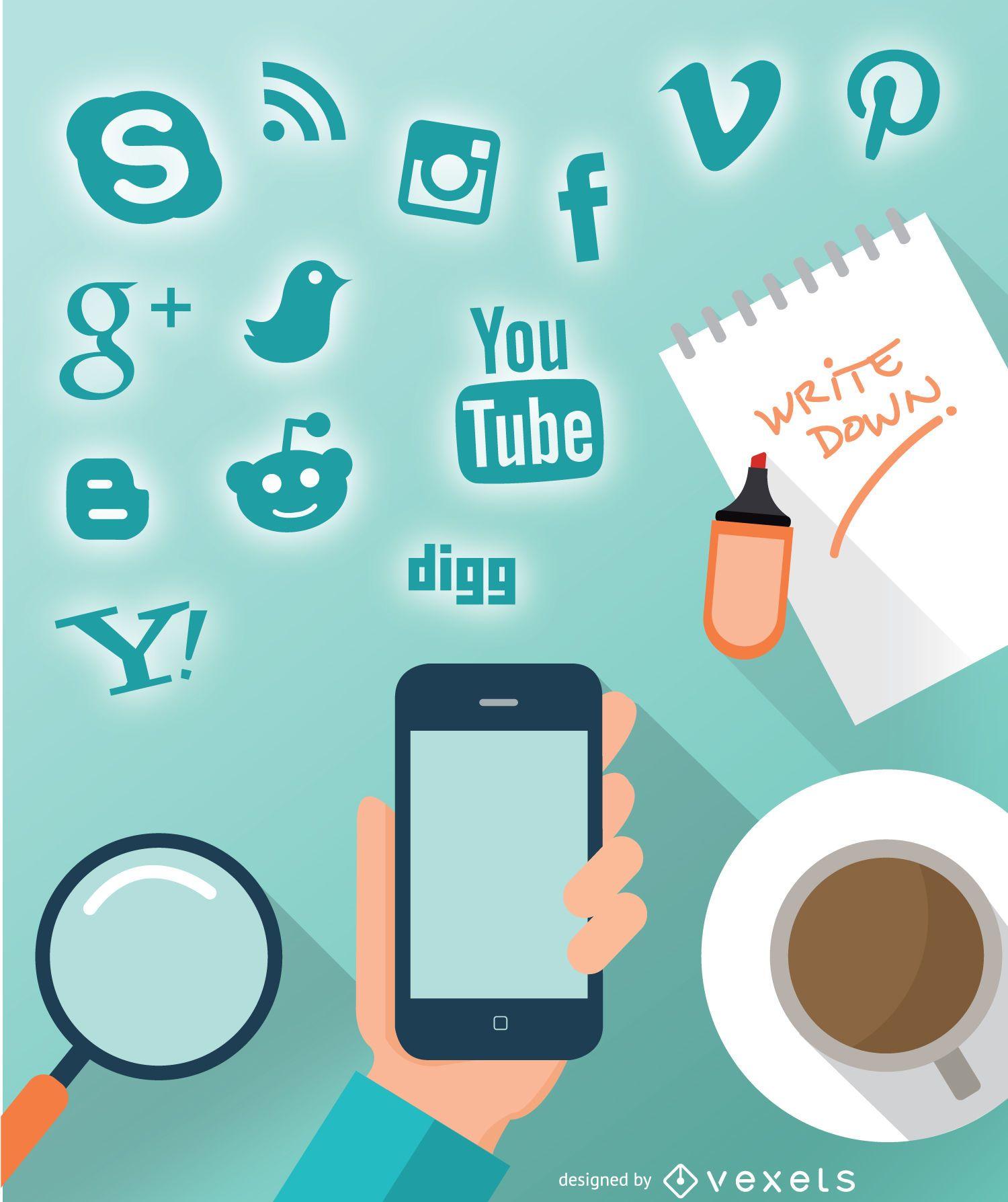 Smartphone social design