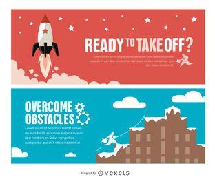 Banners motivacionais de sucesso