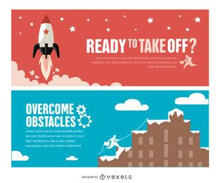 Success motivational banners