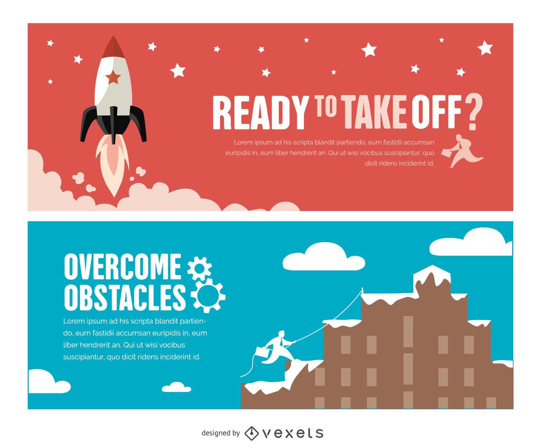 Success motivational banners