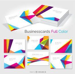 cartão de visita geométricas coloridas