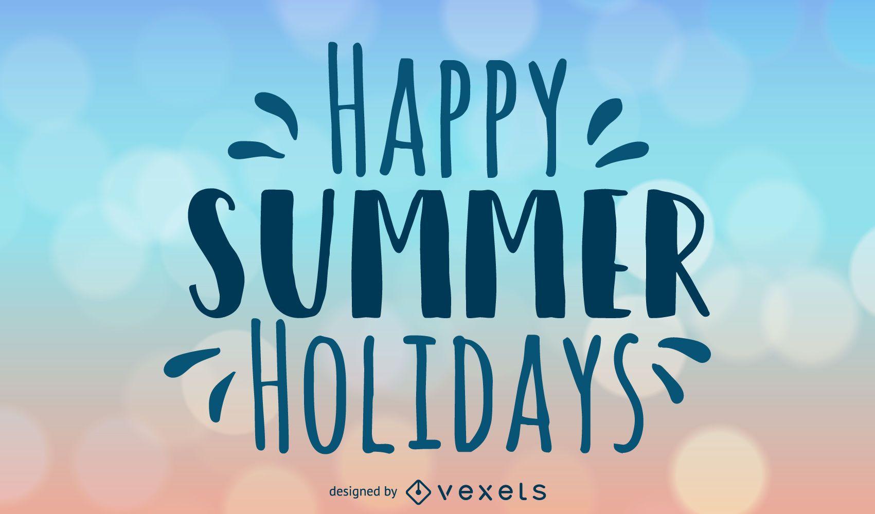 Happy Summer Holidays Background Design