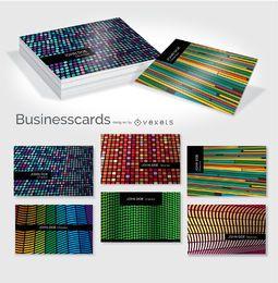 Conjunto creativo tarjeta de visita colorida