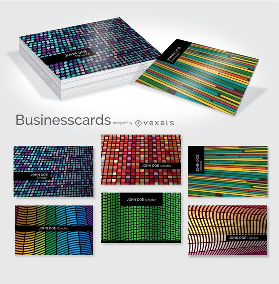 Creative colorful business card set