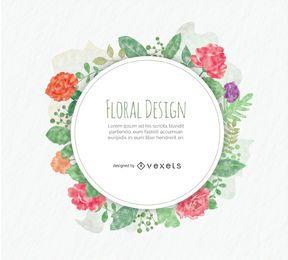 diseño floral redondeado