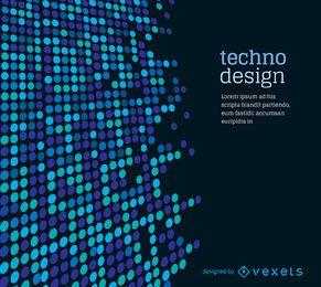 Gepunkteter Techno-Hintergrund