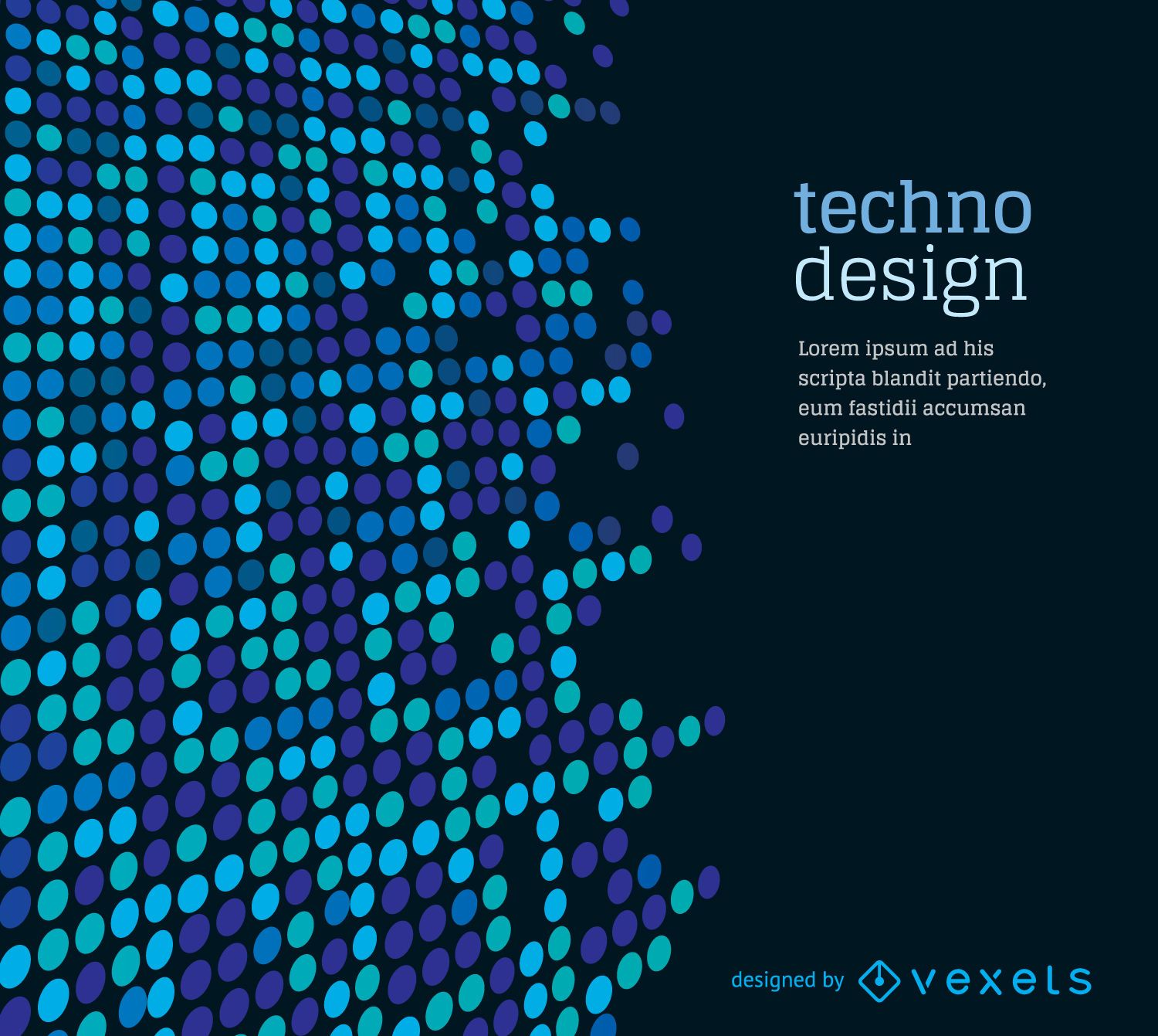 Dotted techno background