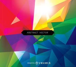 Polygonaler Hintergrund des abstrakten Dreiecks