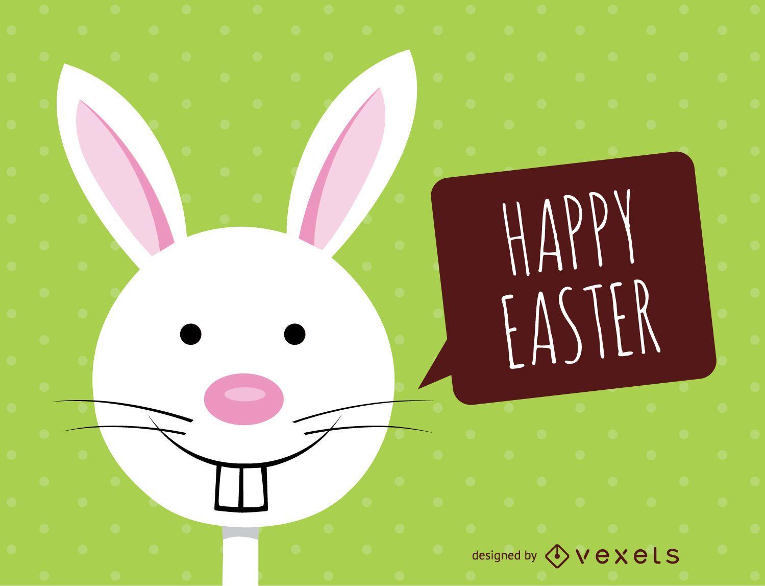 Fancy Easter bunny card